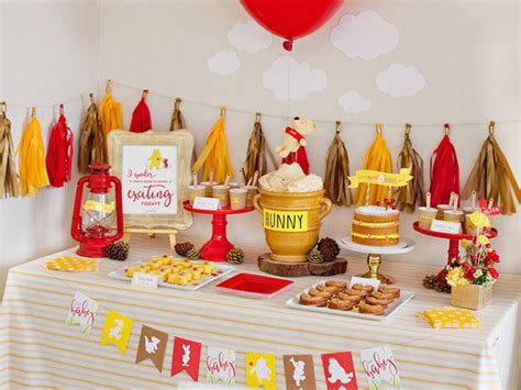 126 Best Images About Winnie The Pooh Baby Shower On Story Books Themed Baby Winnie The Pooh Baby Shower Decoration Ideas Ba Shower