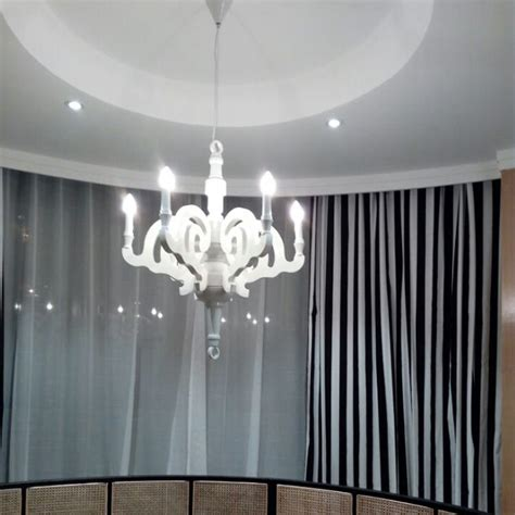 Paper Ceiling Light Paper Led Chandelier Pendant Light Ceiling L Wood Black White Fixture Dp045 Ebay