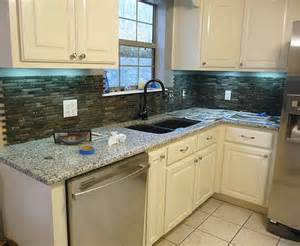 How To Tile A Kitchen Wall Backsplash How To Install Stone Tile Otago Kitchen Backsplash