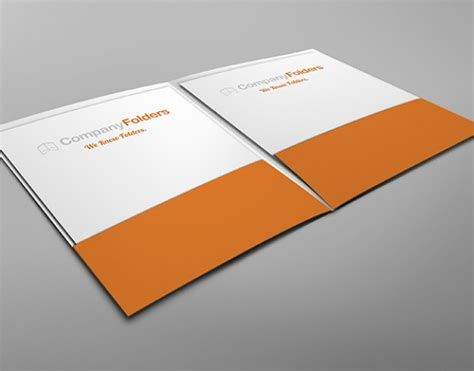pocket folder design template inside view two pocket folder mockup template free psd psd