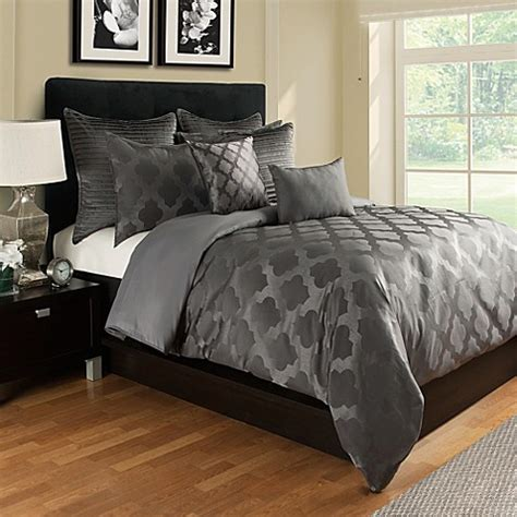 queen bed covers buy tangiers duvet cover in grey from bed bath beyond