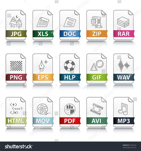 file format las set of file extension vector detailed icons 57381562