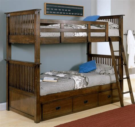 Bunk Bed With Storage Underneath Santee Bunk Bed With Bed Storage In Oak Contemporary Bunk Beds New York By