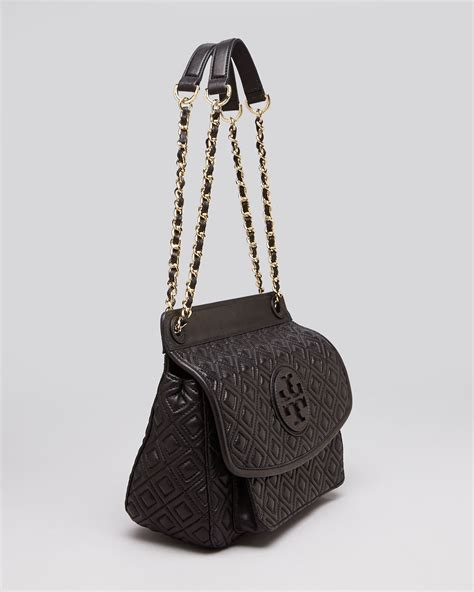 Burch Quilted Small Shoulder Bag Original lyst burch shoulder bag marion quilted small in black