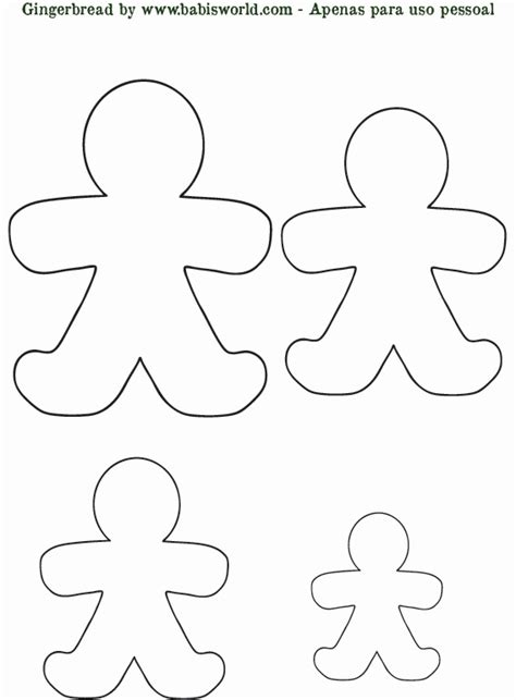 small printable gingerbread man gingerbread man template create out of fabric or paper