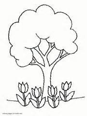 coloring pages of spring trees valentine s day coloring cards for children esl