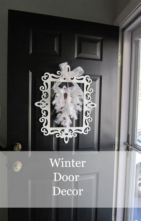 Front Door Winter Decorating Ideas by Winter Door Decor