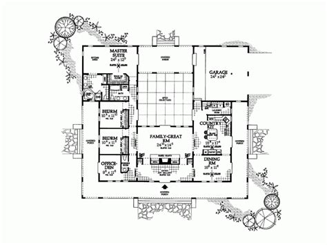 style home plans with courtyard marvelous hacienda style house plans 8 hacienda style