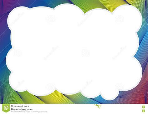 Certificate Or Diploma Template With Rainbow Frame Stock