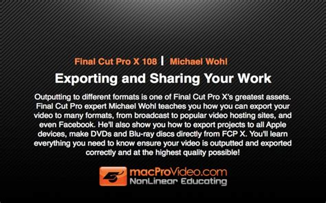 final cut pro hardware requirements download free mpv s final cut pro x 108 exporting and
