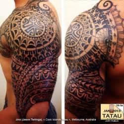 olored polynesian tattoo polynesian half sleeve tattoo