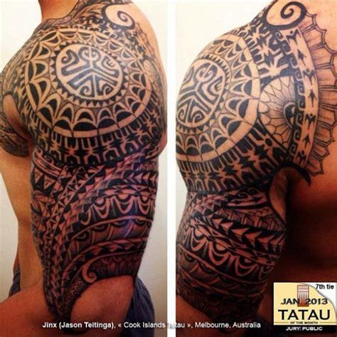 polynesian quarter sleeve tattoo designs olored polynesian tattoo polynesian half sleeve tattoo