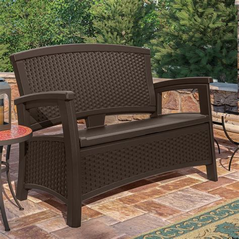 suncast pb6700 patio bench suncast resin patio storage bench patio building