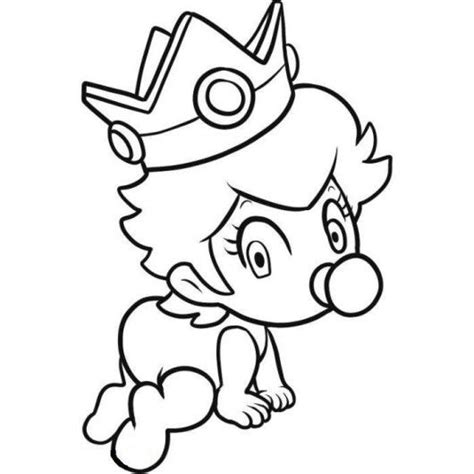 coloring pictures of baby princess bowser and princess peach mario coloring pages bowser