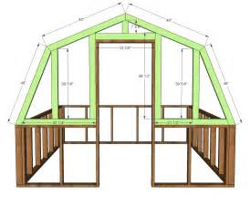 green house plans ana white barn greenhouse diy projects
