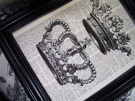 crowncrownsvintage art print dictionary book art print