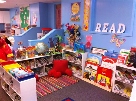 reading themes for libraries dreamy kindergarten classroom library i love the blue
