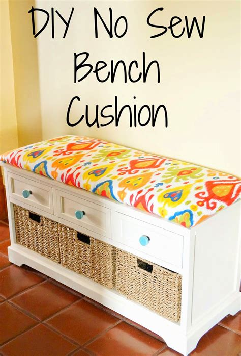 making a bench seat cushion old house to new home diy no sew bench cushion want for