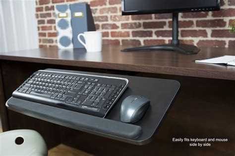 adjustable keyboard tray under desk vivo adjustable computer keyboard mouse platform tray