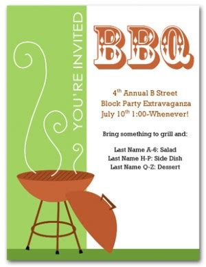 block invitation template free quotes for a bbq quotesgram