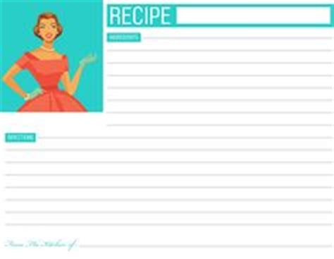 Typeable Recipe Card Template by Recipe Cards Classic And Free Printable On