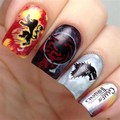 game  thrones nail art nail water decals water
