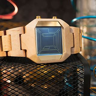 Jam Tangan Wooden Style 34 wooden lcd design with space travel display time date alarm animation kisai space digits