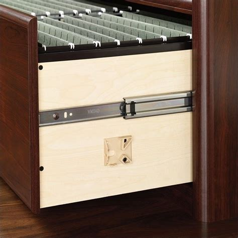 Lateral Wood Filing Cabinet 2 Drawer Sauder Cornerstone 2 Drawer Lateral Wood File Cabinet In Classic Cherry 107302