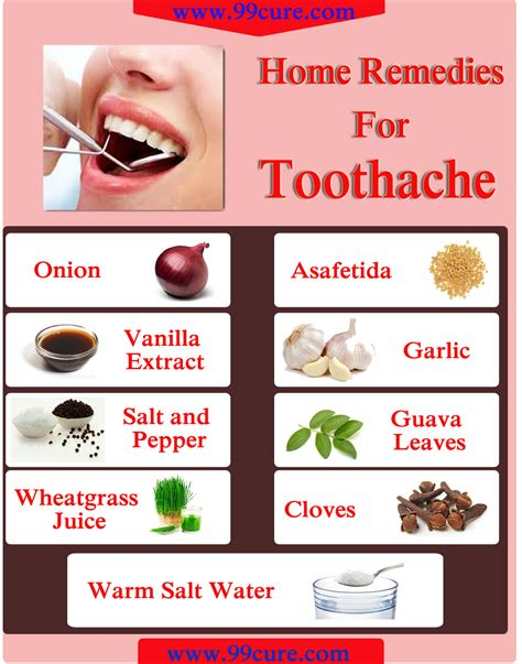 99cure 9 home remedies for toothache
