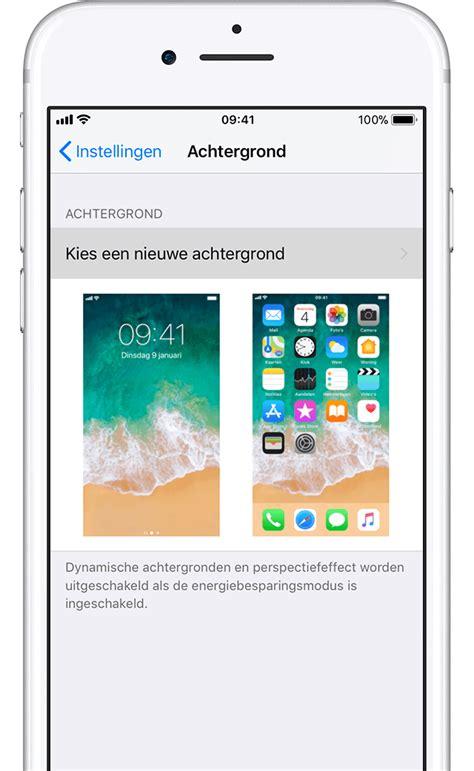 achtergrond van een iphone wijzigen apple support