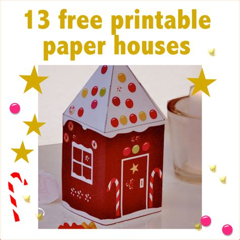 printable christmas houses 13 free printable paper houses for christmas freebie