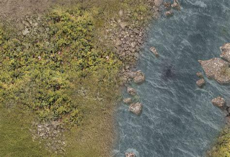 Combat Mat by Dba Battle Mat 1145 Grass Plain River Wargameprint