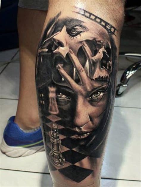 joker tattoo warszawa szachy i twarze kobiet tatuaże