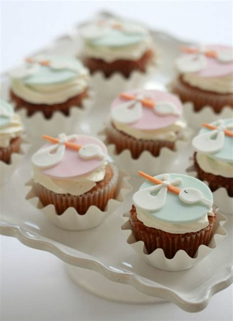 How To Make Baby Shower Cupcakes by Stork Cupcake Toppers Sweetopia