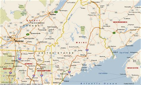 map me maine map
