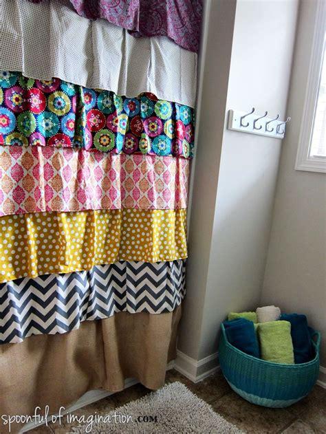 diy bathroom curtain ideas 25 best ideas about ruffle shower curtains on pinterest