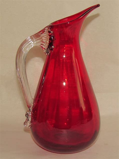 whitefriars glass glass pottery glass whitefriars ruby glass jug
