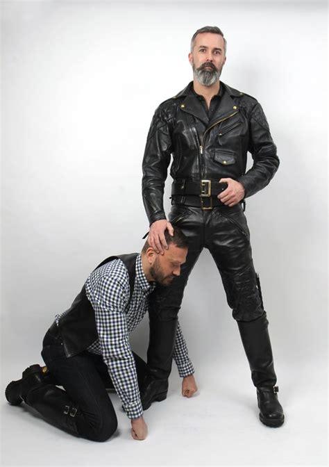 Black Master Cigar leather rubber tattoos cigars beards beard