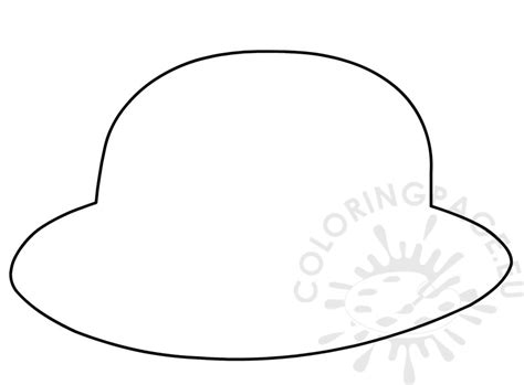 hat template hat page for preschool coloring pages