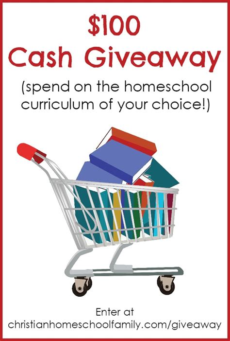 Free Christian Giveaways - win 100 cash toward homeschool curriculum