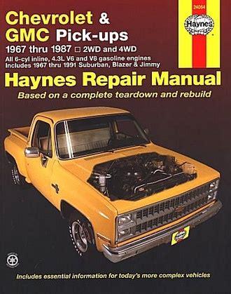 car maintenance manuals 1996 gmc jimmy free book repair manuals chevrolet blazer gmc jimmy repair manual 1967 1987 haynes