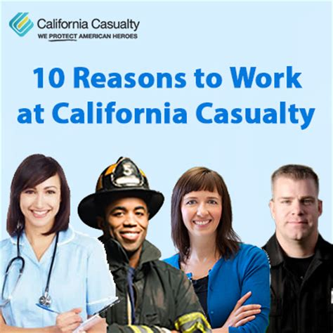 10 Reasons To Work by 10 Reasons To Work At California Casualty California