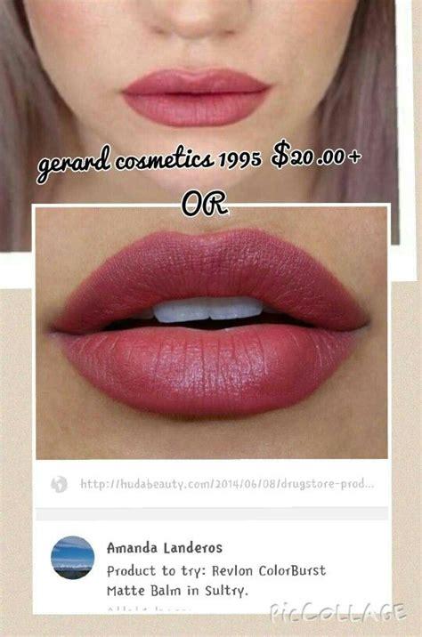 Lipstik Gerard dupe for gerard cosmetics 1995 revlon colorburst matte balm sultry makeup