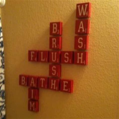 scrabble bathroom tiles diy bathroom decor scrabble tiles i made this using the