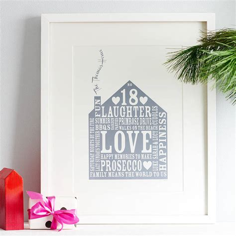 personalised our home print by allihopa