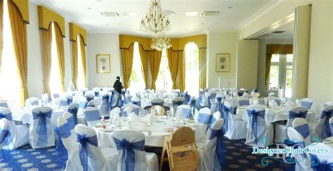 Navy Chair Covers Wedding by Navy Blue Organza Sashes In Kent Designer Chair Covers To Go