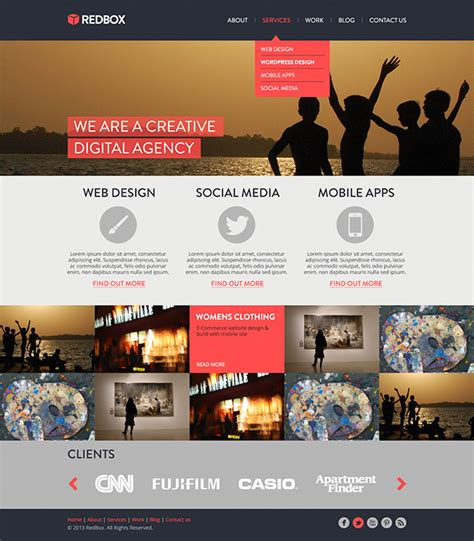 website tutorial website create a redbox website template tutorial psd