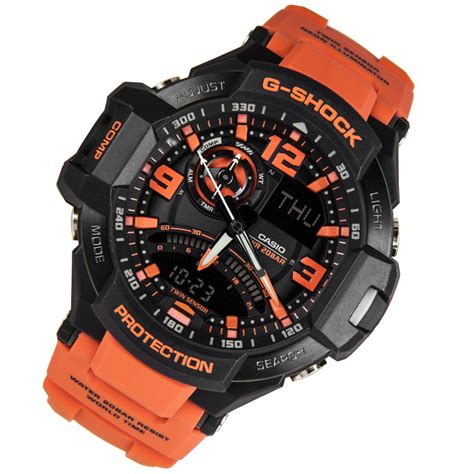 G Shock Gpg 1000 Black casio g shock gravity master orange mens ga 1000 4adr ga 1000