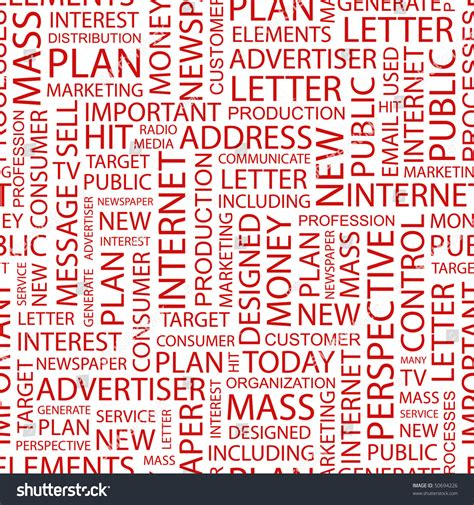 words pattern background advertising and marketing seamless background with words