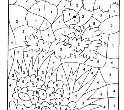 coloring pages by numbers pdf color by number pdf coloring page freescoregov com
